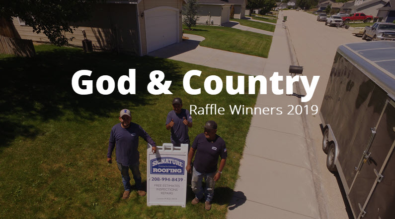 God & Country Raffle Winner 2019
